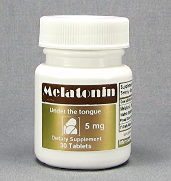 Melatonin, Under the Tongue, 5 MG per Tablet, 30 Tablets/Bottle