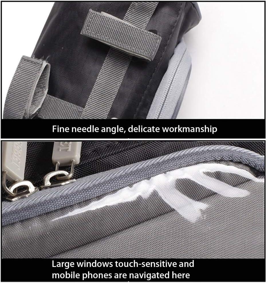 housesweet Sac de Rangement pour Moto Sac de Sacoche /étanche pour Guidon Sac de Fourche Avant Sac /à Outils en Rouleau avec Pochette /à /écran Tactile