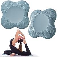 Bigmeda 2 STKS Yoga Knie Pad, Anti-slip Yoga Matten voor Vrouwen Knielende Ondersteuning voor Yoga Comfortabel en…