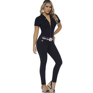05edf4f3c7e4 Amazon.com  Aranza Jumpsuits for Women Sexy Butt Lifting Jean Backless