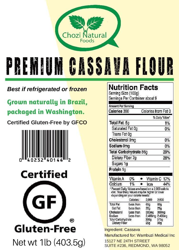 Amazon.com : Cassava Flour (Manioc or Yuca Flour) by Chozi ...
