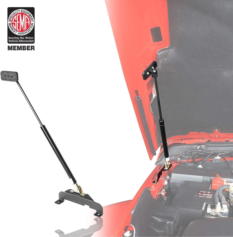 2pcs u-Box Front Hood Lift Kit for 2018 2019 2020 Jeep Wrangler JL JLU Unlimited