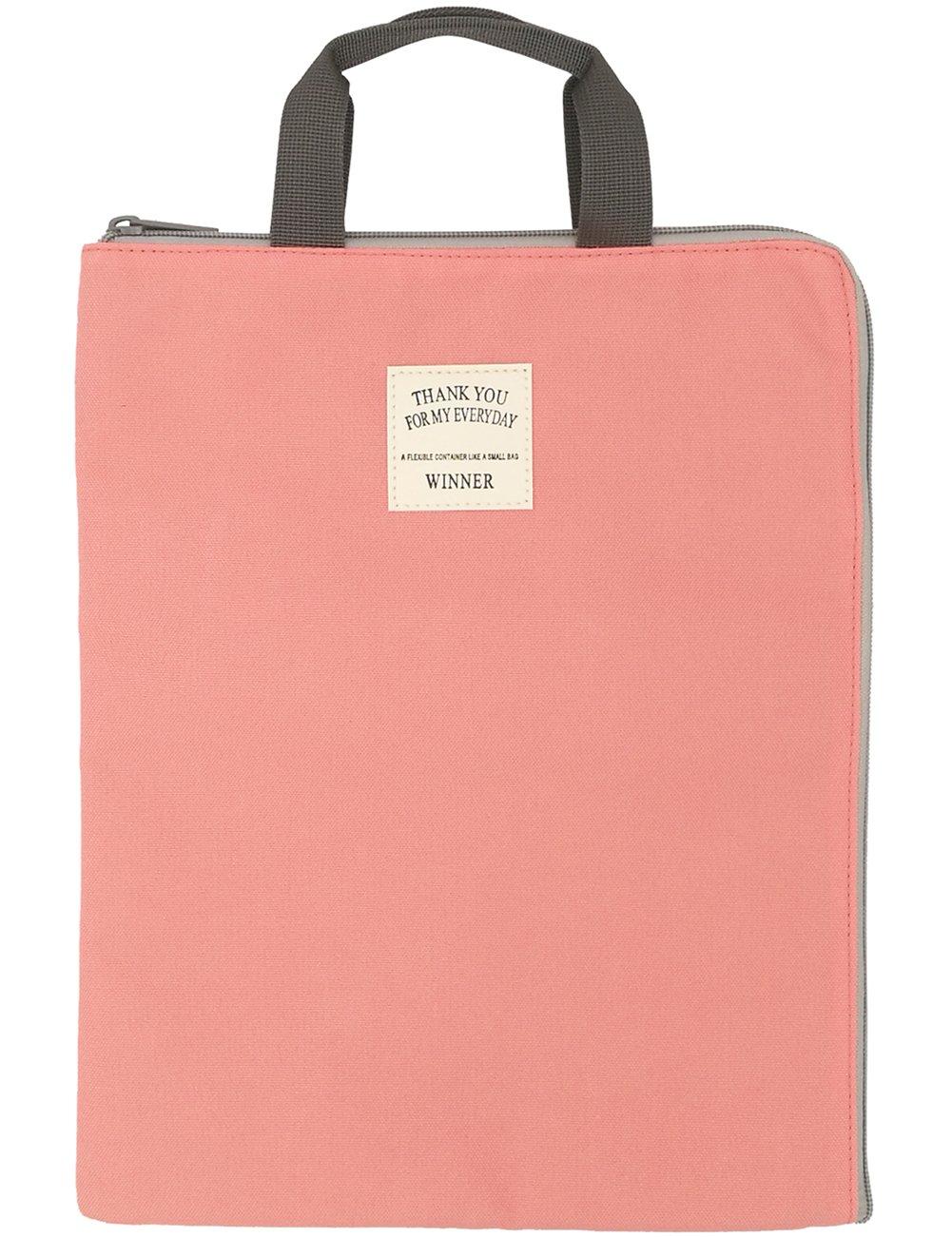 Mygreen A4 Size Paper File Folder Holder Top Handle Business Briefcase Document Stationery Supplies Bag Organizer Pen Case Office School Handbag Tote Purse
