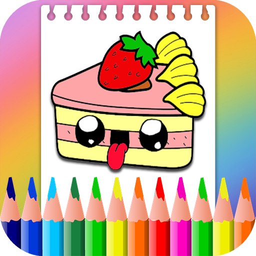 Kawaii Food Coloring Book