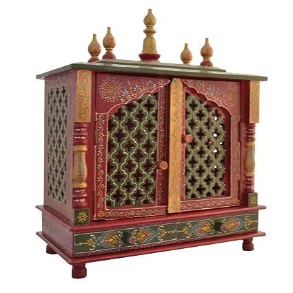62b9273bc Buy Jodhpur Handicrafts Wooden Temple  Home Temple  Pooja Mandir ...