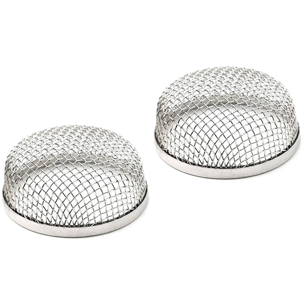 JIAYI RV Exhaust Cover, Flying Insect Screen, RV Furnace Vent Cover, Protects RV Furnaces from Insects and Prevents RV Vent Damage, 2.8' Stainless Steel Mesh Screens - Installation Tool Included-(2 Pack)