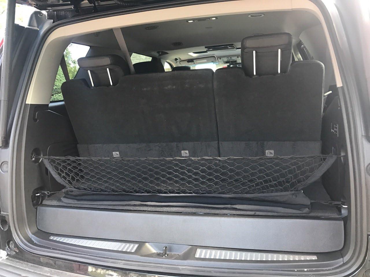 Envelope Style Trunk Cargo Net for Cadillac Escalade Escalade ESV 2015 2016 2017 2018