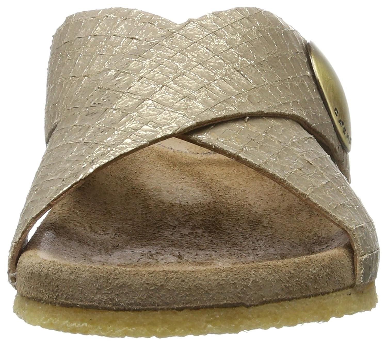 Ca'Shott Damen A17112 Pantoletten, Gold (Cocco Gold 190), 37 EU