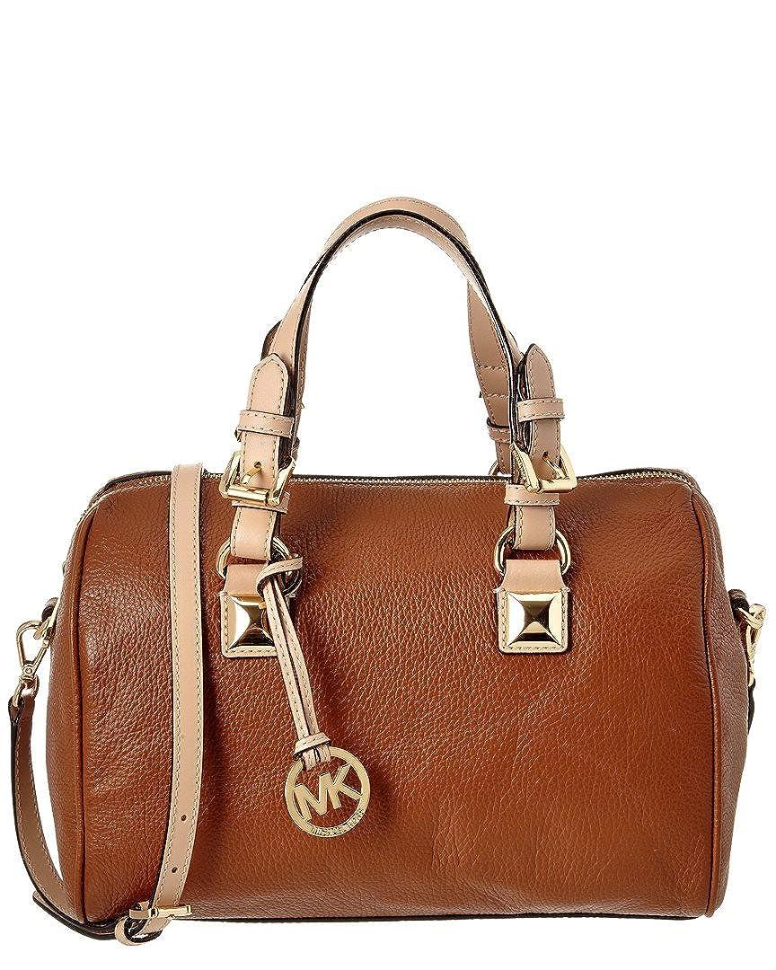 34acbf7fade6 ... reduced michael kors grayson medium brown leather satchel handbags  amazon dd8ad 69493
