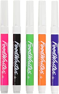 Wilton Fine-tip Food Writer 'Neon' Edible Color Markers (Pack of 5)