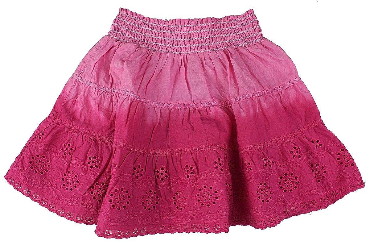 Minoti Girls Baby Toddler Dip Dye Rara Gypsy Cotton Skirt Pink Sizes From 3 To 23 Months