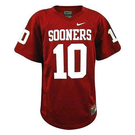 buy online 4a0c6 55338 Nike Oklahoma Sooners NCAA Youth Replica Football Jersey Crimson #10 (5)