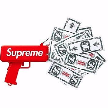 Supreme Pistola de dinero Perfecto para Discoteca, Bar, Fiesta, Boda, Marketing!: Amazon.es: Juguetes y juegos