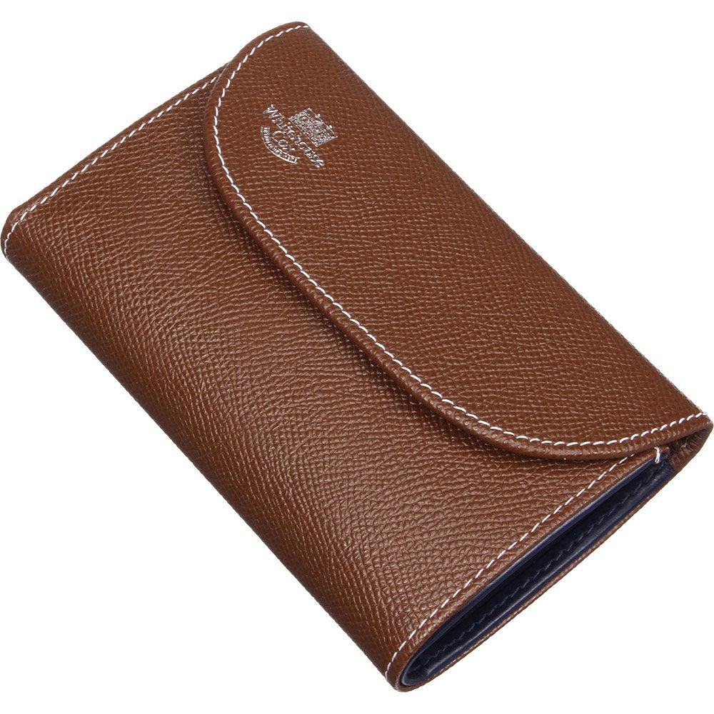 ホワイトハウスコックス(Whitehouse Cox) LondonCalf S7660 三つ折り財布 【正規販売店】 B00U9XCCUEブラウン/ネイビー