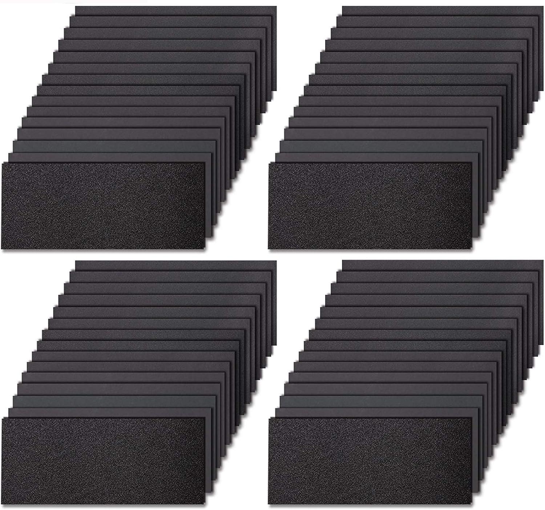 LANNEY 20 to 3000 Girt 60 Pcs Wet Dry Waterproof Sanding Paper Sheets