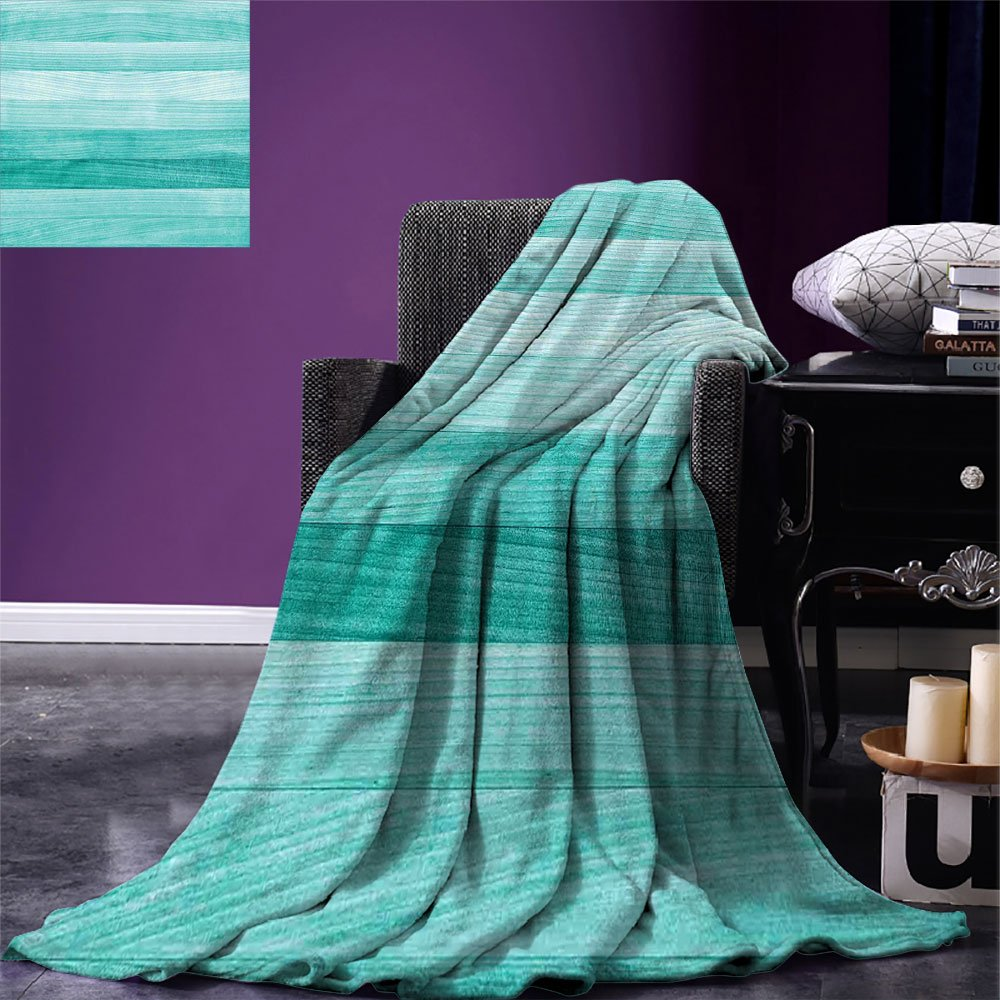 smallbeefly Teal Decor Digital Printing Blanket Painted Wood Texture Penal Horizontal Lines Birthdays Easter Holiday Print Backdrop Summer Quilt Comforter Turquoise