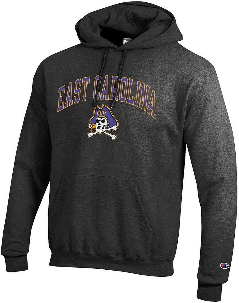 Elite Fan Shop NCAA Mens Hoodie Sweatshirt Dark Charcoal Arch