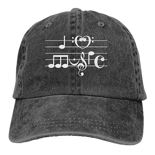 Amazon com: Mens Womens Baseball Cap Hat I Love Music in Musical