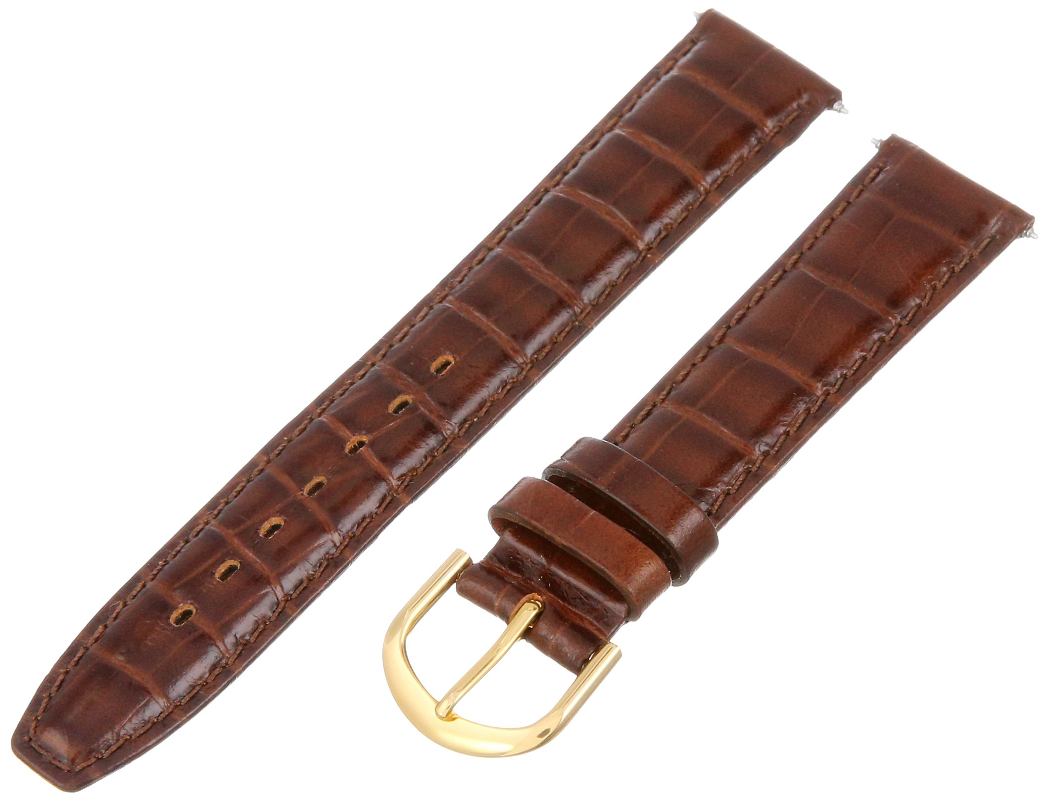 Voguestrap TX09718BN Allstrap 18mm Brown Regular-Length Baby Alligator Grain Watchband