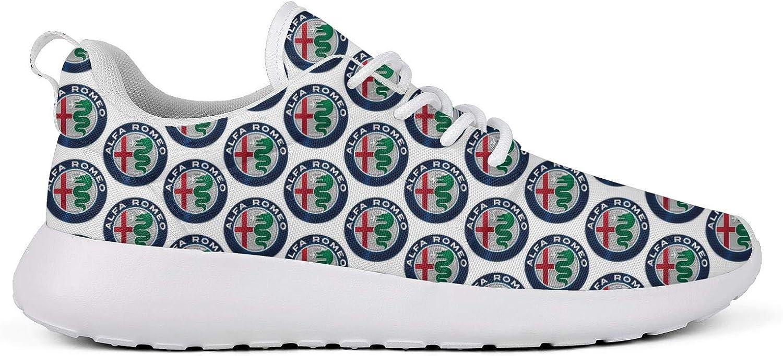 Mens Flat Bottom Cute Alfa-Romeo-Giulia-car-SUV-Blue- Sneakers Fitness Shoe