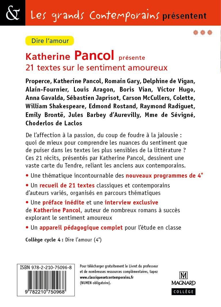Katherine Pancol Présente 21 Textes Sur Le Sentiment