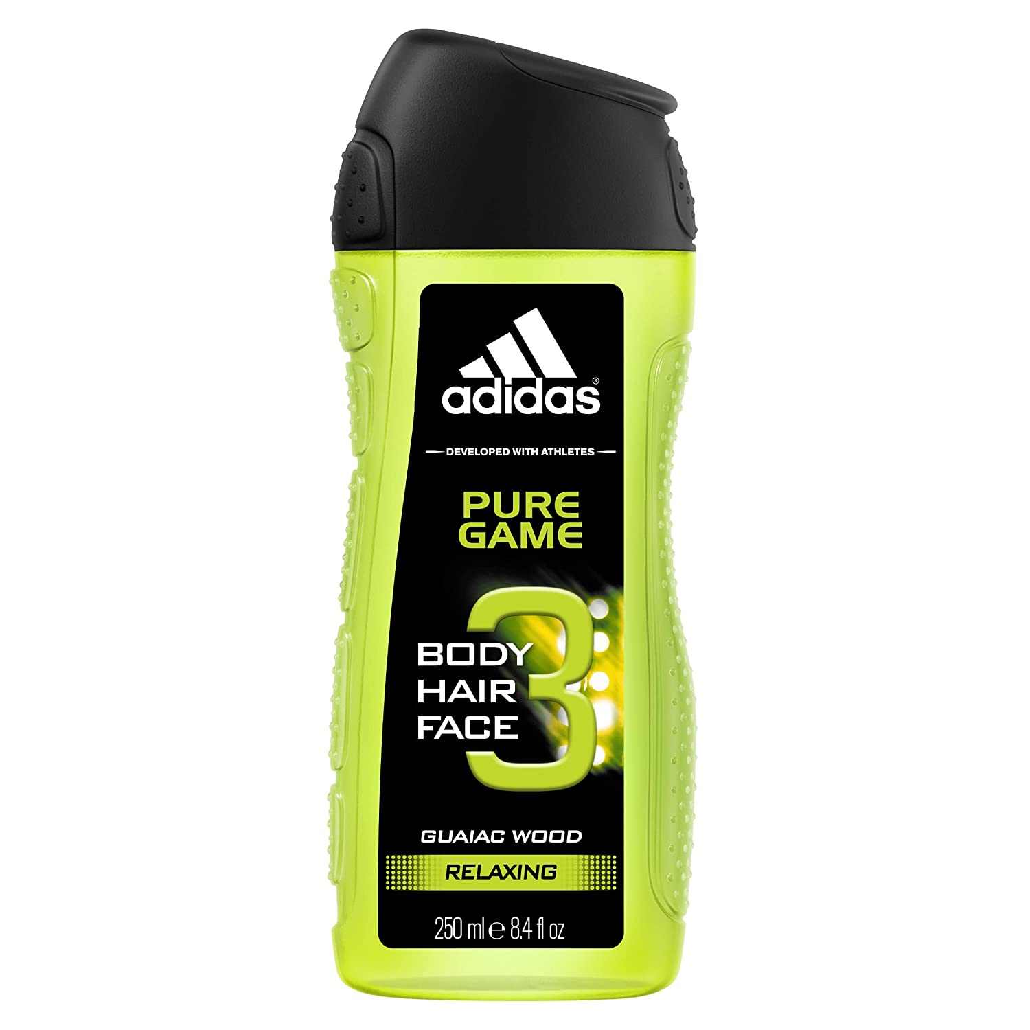 Adidas Pure Game 3 In 1 Body, Hair And Face Shower Gel, 250ml