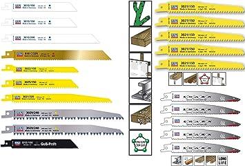 15x Säbelsägeblätter Tigersäge Fuchsschwanz Bi-Metall Wilpu Holz Metall Stahl