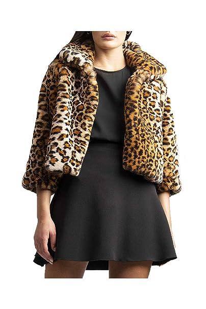 factory price dd0f5 f3706 Feel plus 10 Giacca Animalier Donna Leopardata Un Bottone in Ecopelliccia