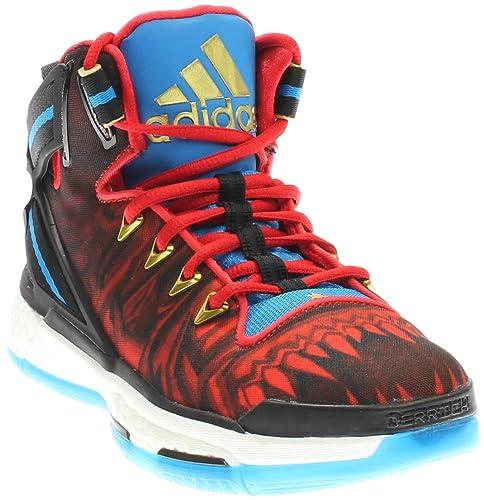 4bce5cc69d26 adidas Kids Boy s D Rose 6 Boost (Big Kid) Black Red Blue Sneaker ...