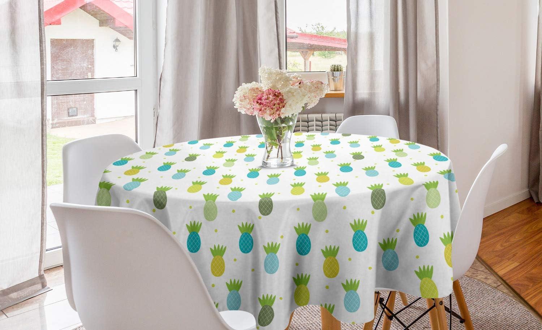 Kitchen & Dining Linens & Textiles Ambesonne Fruit Art Round ...