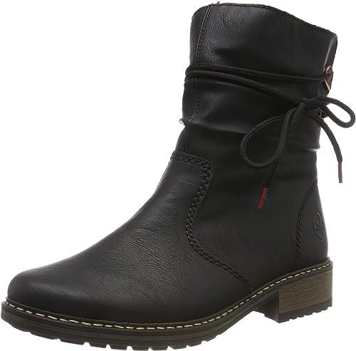 rieker Damen Stiefelette Schwarz Schuhe, Größe:39