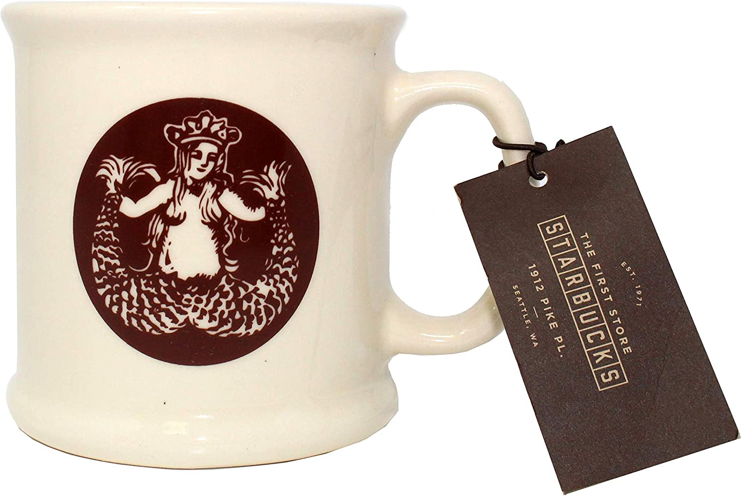 First Starbucks Original Mermaid Logo Mug Cup Pike Place Seattle