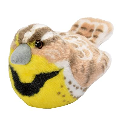 K&M Stuffed Western Meadowlark with Sound Audubon Birds Series 7 inches from beak to tail - F1891 B361: Toys & Games