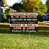 Yard Sign-in This House We Believe Yard Sign PN99YS, 4 pieces-24x18 in Plastic Decoration Yard Signs Stake H Frame