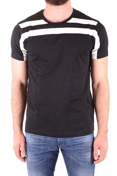premium selection be3a9 e57d1 LES HOMMES T-Shirt Uomo MCBI36828 Cotone Nero: Amazon.it ...