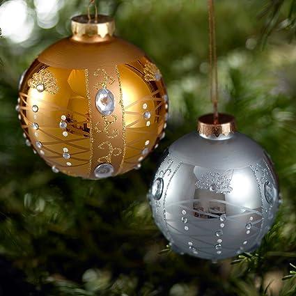 Comix Christmas Tree Rhinestone/jeweled Embellished Glass Ball Ornaments - Amazon.com: Comix Christmas Tree Rhinestone/jeweled Embellished