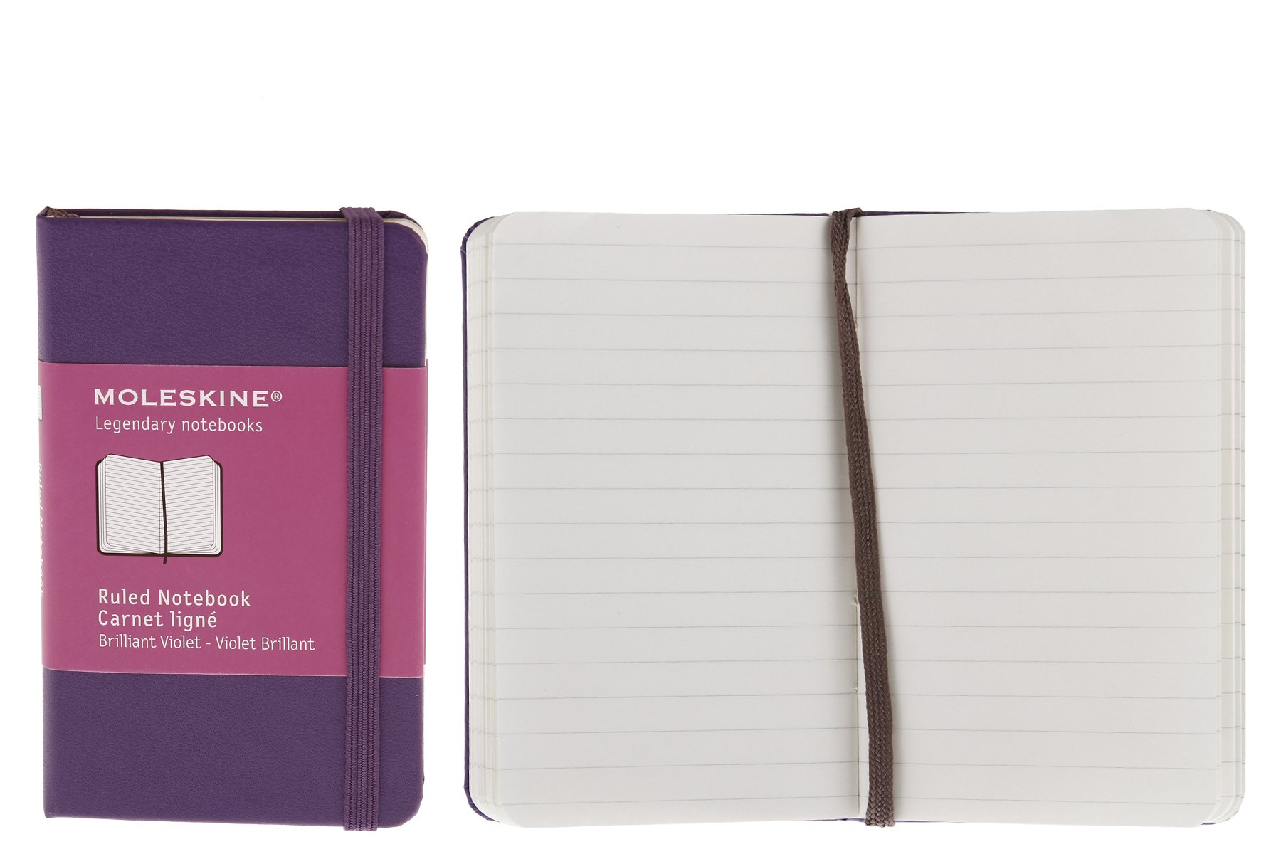 Moleskine Classic Notebook, Hard Cover, XS (2.5'' x 4'') Ruled/Lined, Brilliant Violet