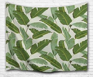 Uberlegen Izielad Bananenblatt Wandtapisserie Palme Blatt Wandbehänge Kunst Dorm  Schal Strand Handtuch Werfen Tapisserie Dekor Bettdecke Schlafzimmer