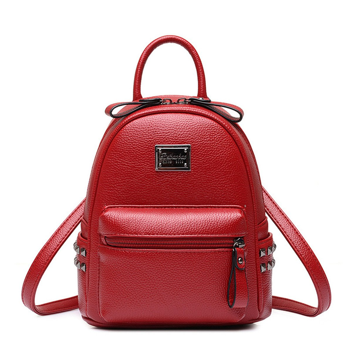 Cute Mini Leather Backpack Casual Daypack Satchel Purse for Girls and Women