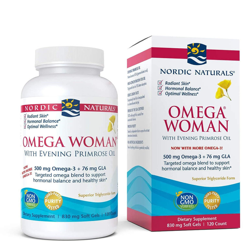 Nordic Naturals - Omega Woman, Evening Primrose Oil Blend, 120 Soft Gels (FFP)