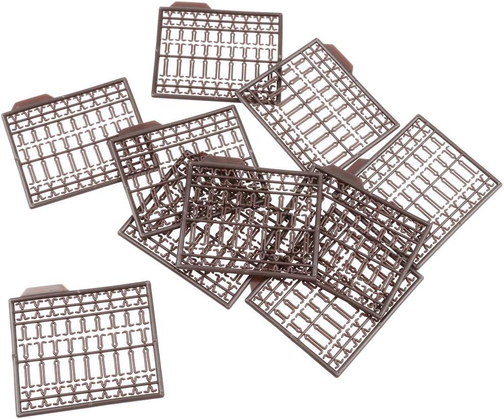 10x Kunststoff Haarspangen Stopper Boilies Stopper Karpfenangeln