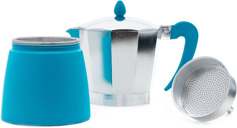 San Ignacio Cafetera 9T Soft Touch Splash Verde, Aluminio ...