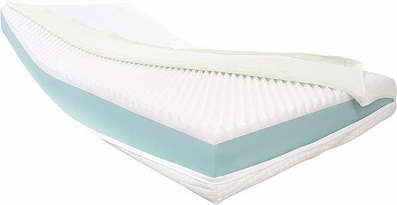 Dibapur® - Visco Relax: colchón ortopédico de espuma fría y viscoelástica, alto peso volumétrico, núcleo de 16 cm aprox. a elegir, con funda lisa de ...