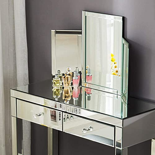 Mecor Tri-fold Vanity Mirror, Makeup Tabletop Dressing Cosmetic Mirror with Beveled Edge, 31 x 20