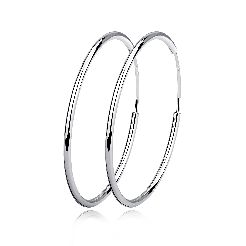 Hoop Earrings Sterling Silver Circle Endless Earrings Hoops Jewelry for Women Girls,Daimeter 20,30,40,50,60mm 20mm LUHE GNE0540-XX