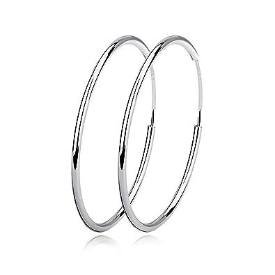 09a350984 Silver Hoop Earrings Sterling Silver Circle Endless Big Earrings Hoops  Jewelry,Fashion Gold Hoop Earring