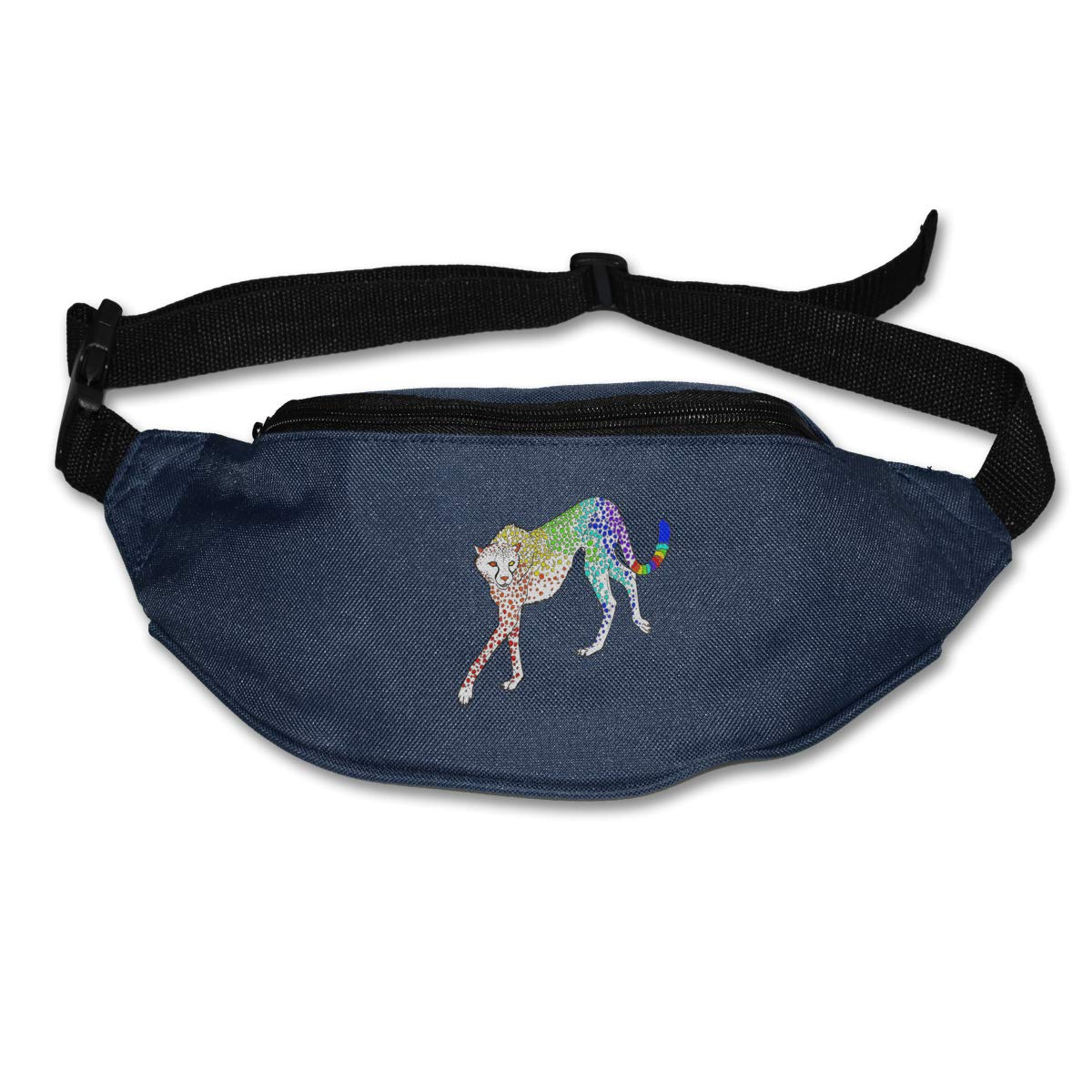 Cheetah Colorful Funny Sport Waist Pack Fanny Pack Adjustable For Travel