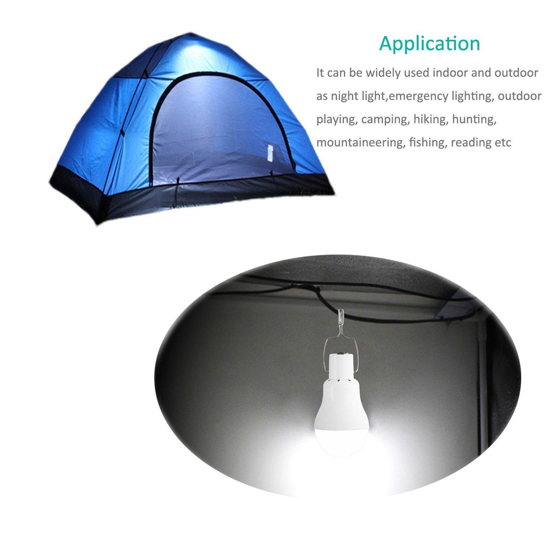 acampada Lafagiet con placa solar de 80 cm pesca cobertizos para actividades al aire libre Bombilla LED port/átil y solar senderismo lectura