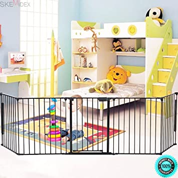Amazon Com Skemidex Elegant Fireplace Fence Sturdy Baby Play