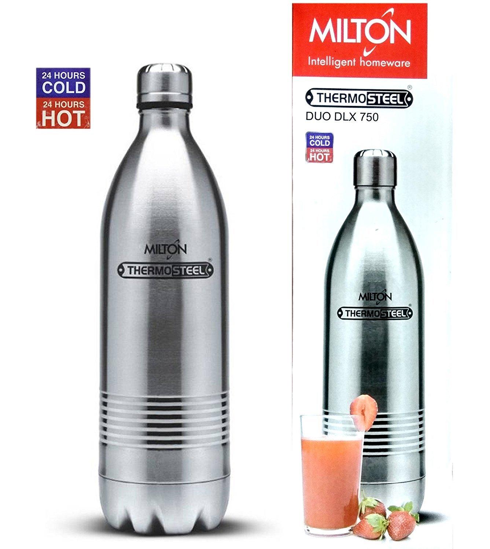 Milton Thermosteel Duo 750 Dlx - Steel Plain
